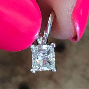 Jewelry - 14k White Gold 0.50 Ct Diamond Necklace Pendant